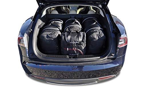 Maßgeschneiderte Reise-Autotaschen für das Tesla Model S (Set) von Kjust Carbags