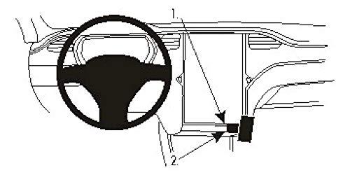 Brodit   ProClip Fahrzeughalter 854922   Made IN Sweden   Winkelbefestigung   für linkslenkende Fahrzeuge   passt Gerätehalter, schwarz*