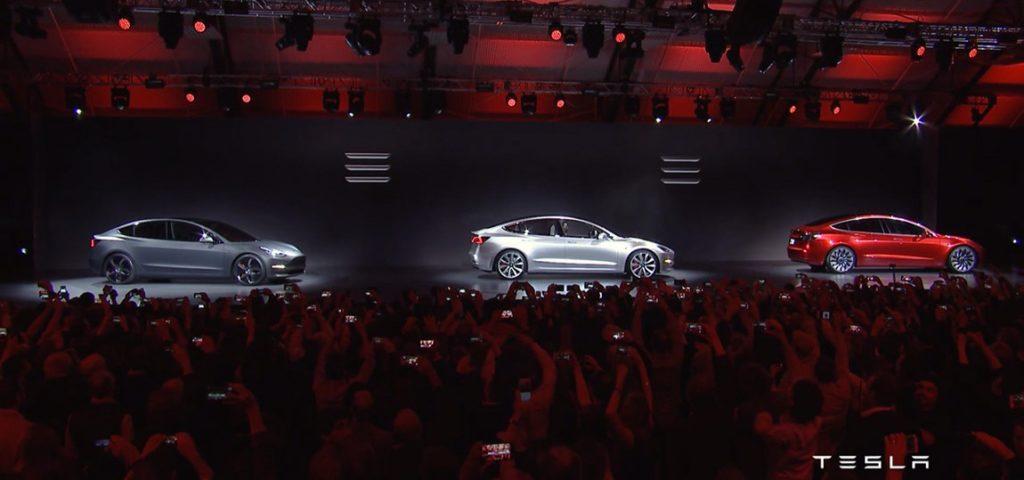 Foto: Premiere des Tesla Model 3 im Livestream | © Tesla Motors