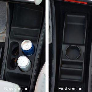 Foto: Generic Mittelkonsolen-Aufbewahrungsbox für den Tesla S - rechts die erste, links die zweite Generation | © Hersteller