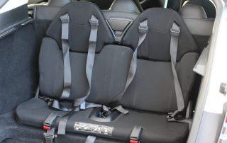 Tesla Kindersitze rear facing seats 5+2 seats Sitze Heck greenspeed emobility Deutschland Aachen gebraucht kaufen