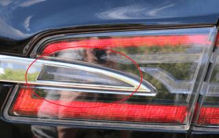 Tesla Model S Kondenswasser Wasser Rückleuchte Chromzierleiste Chrom Dichtung dicht undicht Wassertropfen Wassertröpfchen Aachen NRW Deutschland Euregio Gebrauchtwagen Ratgeber