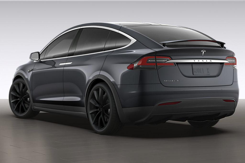 Tesla Model X90D Allrad Exterieur Midnight Silver Metallic Onyx Felgen greenspeed emobility Elektroauto Gebrauchtwagen kaufen Aachen Deutschland NRW