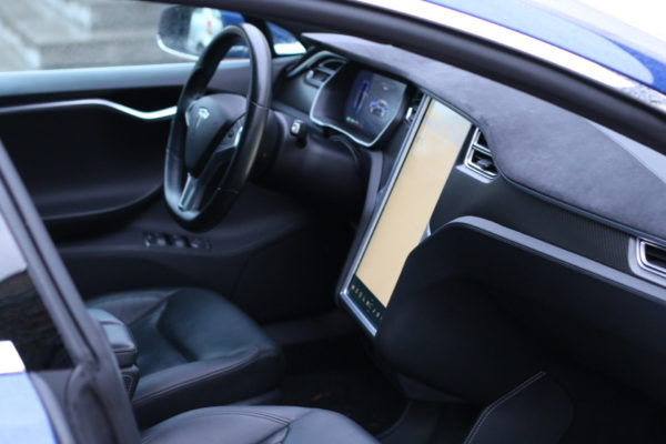 Tesla Model S90D blau metallic Autopilot Panorama Schiebedach Smart Air U-HiFi Allrad Turbine Felgen Supercharger Greenspeed emobility Aachen Deutschland NRW Euregio Autohändler Gebrauchtwagen kaufen