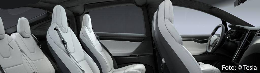 Tesla Model X P100DL Allrad Interieur 6 Sitze Midnight Silver Metallic Onyx Turbine Felgen Ludicrous Performance greenspeed emobility Elektroauto Gebrauchtwagen kaufen Aachen Deutschland NRW