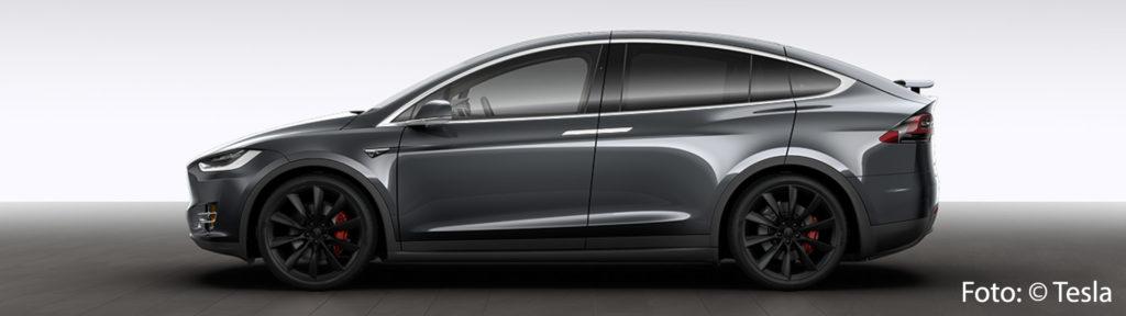 Tesla Model X P100DL Allrad Exterieur Midnight Silver Metallic Onyx Turbine Felgen Ludicrous Performance greenspeed emobility Elektroauto Gebrauchtwagen kaufen Aachen Deutschland NRW