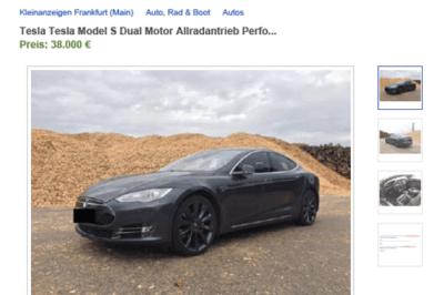 Tesla Fake Annonce Betrug Betrugsversuch eBay Kleinanzeigen Online Marktplatz Verkauf