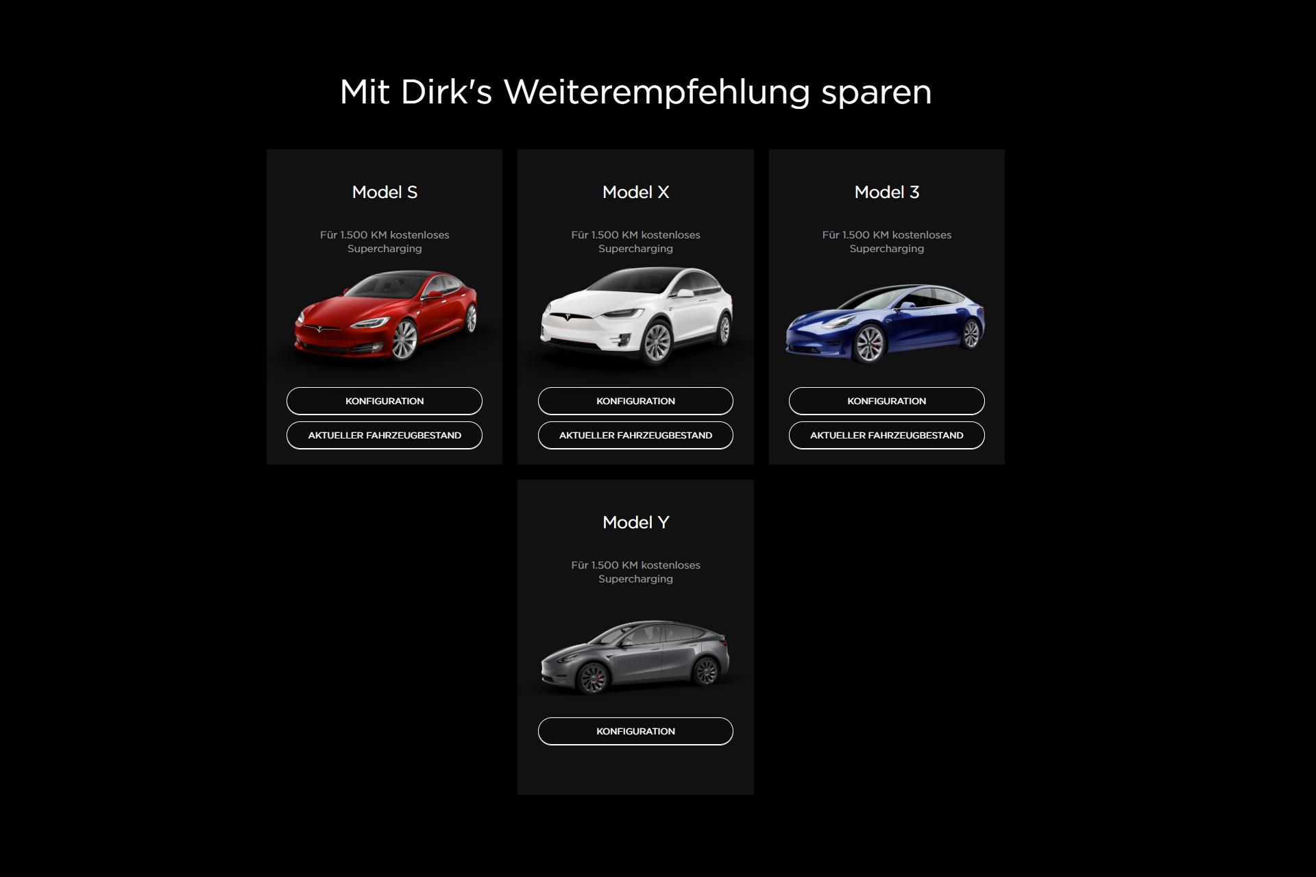 Tesla Empfehlungsprogramm 1.500 Kilometer Supercharger Kontingent Europa