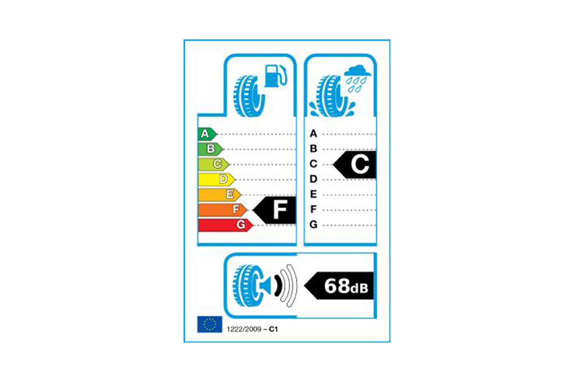 Foto: EU-Reifenlabel für Goodyear EAGLE RS-A² P 245/45 R 19 98 V